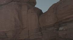 Tilt of Garden of the Gods Siamese Twins Pikes Peak Hole Stock Footage