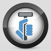 Razor icon - stock illustration