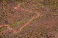 Aerial View of a Desert Road Kuvituskuvat