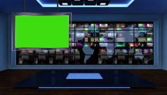 News TV Studio Set 53-Virtual Green Screen Background Loop Stock Footage