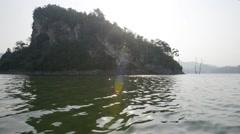 Inland Island - Pulau Batu Putih, Pan Right Stock Footage