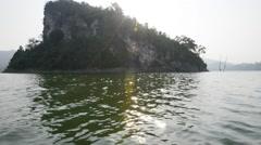 Royal Belum National Park - Pulau Batu Putih, An Inland Island Stock Footage