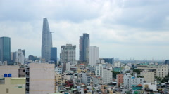 Time Lapse of Rain Clouds and Shadows Passing Over Ho Chi Minh City (Saigon) Stock Footage