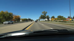 Driving through Medicine Hat, Alberta. - stock footage