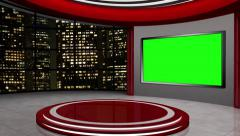 News TV Studio Set 56-Virtual Green Screen Background Loop Stock Footage