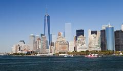 Stock Photo of New York, USA - Panorama and One World Trade Center