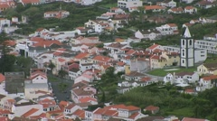 View of Horta from Pont da Espalamaca in the Azores Stock Footage
