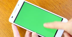 4k Green Screen Smartphon,Smartphone Touchscreen Device Finger Gesture,Chrome K Stock Footage