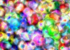 Clustered colours - stock illustration