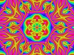 Multi coloured pattern - stock illustration