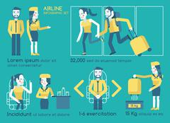 Airline infographics vector Stock Illustration