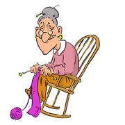 Grandmother - stock illustration