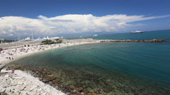 Stock Video Footage of Antibes harbor France Cote d'Azur