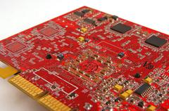 Graphic card, chip - stock photo