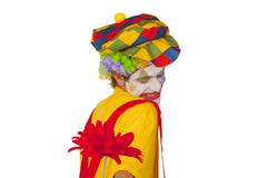 Colorful clown with flower Stock Photos