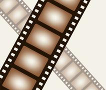 Background from negative film strip - stock illustration