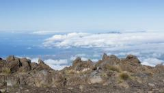 4K Rising crane time lapse reveals Maui Valley, Hawaii Stock Footage