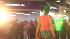 Girls dancing show Stock Footage