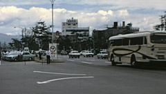 Kyoto 1970: traffic in the street Stock Footage