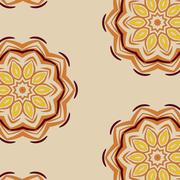 Lace  floral ethnic ornament  pattern - stock illustration