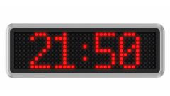 4K - Led dot display countdown Stock Footage