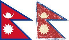 Nepal grunge flag. Vector illustration Stock Illustration