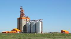 Pioneer grain elevator in Kemnay, Manitoba, Canada. Stock Footage