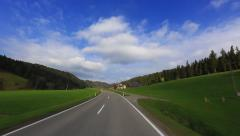 Driving Shot - Sunny Valley 2 -  Part 1 of 2 Stock Footage