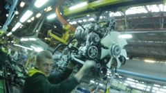 Man assembly-line Stock Footage
