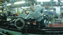 On production line Stock Footage