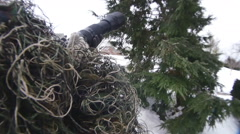 Ghillie suit ghilie ghili Stock Footage
