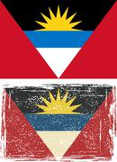 Antigua and Barbuda grunge flag. Vector illustration Stock Illustration