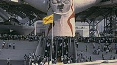 Osaka 1970: the entrance of Expo '70 Stock Footage