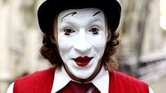 Mim  mime  clown Stock Footage