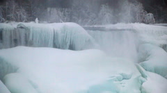 Niagara Falls Frozen Over,  Historic 2015 Winter, View 6 Stock Footage