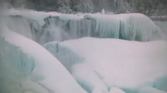 Niagara Falls Frozen Over,  Historic 2015 Winter, View 5 Stock Footage