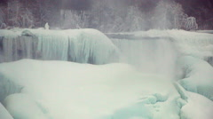 Niagara Falls Frozen Over,  Historic 2015 Winter, View 3 Stock Footage