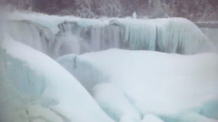 Niagara Falls Frozen Over,  Historic 2015 Winter, View 2 Stock Footage