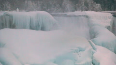 Niagara Falls Frozen Over,  Historic 2015 Winter, View 1 Stock Footage