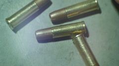 bullets on ground bullet - stock footage
