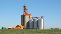 Pioneer grain elevator in Kemnay, Manitoba, Canada. - stock footage