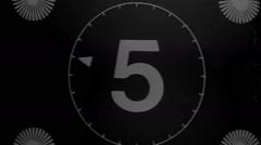 Vintage movie leader film countdown retro Stock Footage