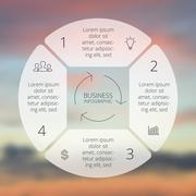 Circle line infographic. Template for cycle diagram, graph, presentation and Stock Illustration