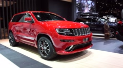 Jeep Grand Cherokee SUV car - stock footage