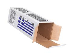 Concept of export - Product of Greece - stock photo