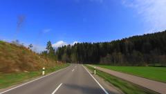 Driving on a tree-lined Avenue - Sunny Day - Part 4 of 5 Stock Footage