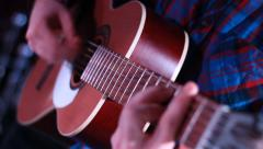 Play Acoustic Guitar - stock footage