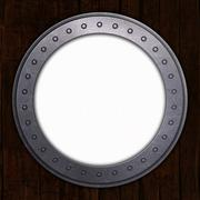 Port Hole with white space Stock Illustration