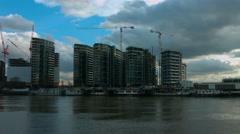 Battersea building developments Stock Footage