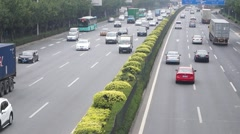 Shenzhen Baoan 107 National Road Traffic landscape Stock Footage